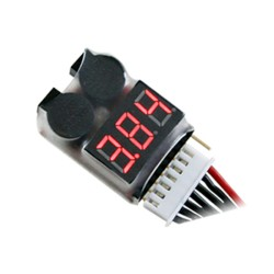 2-8S Low Voltage Lipo Tester & Alarm