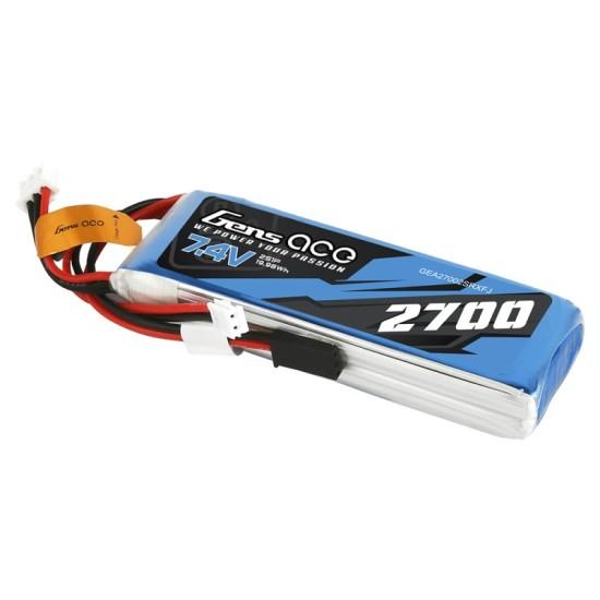 Gens ace 2700mAh 7.4V 2S1P LiPo Battery Transmitter Pack for Futaba / Sanwa / TARANIS