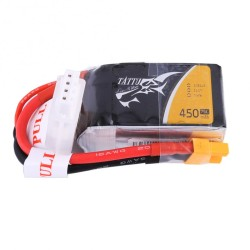 Tattu 450mAh 3S1P 75C 11.1V Lipo Battery XT30