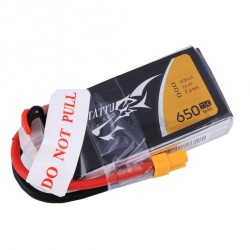 Tattu 650mAh 3S1P 75C 11.1V Lipo Battery XT30