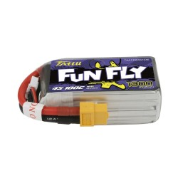 Tattu Funfly 1300mAh 14.8V 100C 4S1P Lipo Battery Pack with XT60 Plug