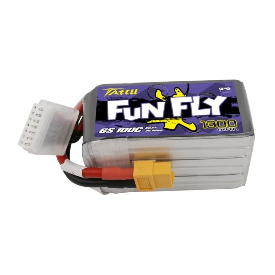 Tattu Funfly Series 1300mAh 22.2V 100C 6S1P Lipo Battery Pack with XT60 plug