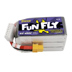 Tattu Funfly Series 1550mAh 22.2V 100C 6S1P Lipo Battery Pack with XT60 plug