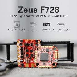 HGLRC Zeus F728 STACK 20x20 3-6S   F722 Flight Controller   28A BL_S 4in1 ESC Support I2C function