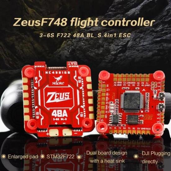 HGLRC Zeus F748 STACK FPV Racing Drone 3-6S F722 FC 48A BL_S 4in1 ESC