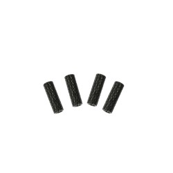 Aluminum Spacers Knurled M3 x 20 x D5 Black Standoffs (4pcs)