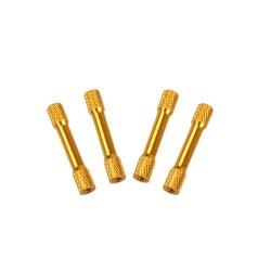 Aluminum Spacers M3 x 35 x D6 Gold Standoffs (4pcs)