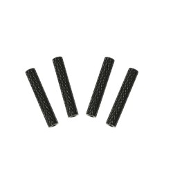Aluminum Spacers Knurled M3 x 28 x D5 Black Standoffs (4pcs)