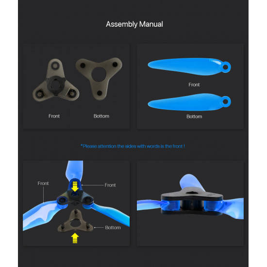 Dalprop FOLD F6 6'' 6048 3-Blade (2 Pairs) Propeller POPO compatible