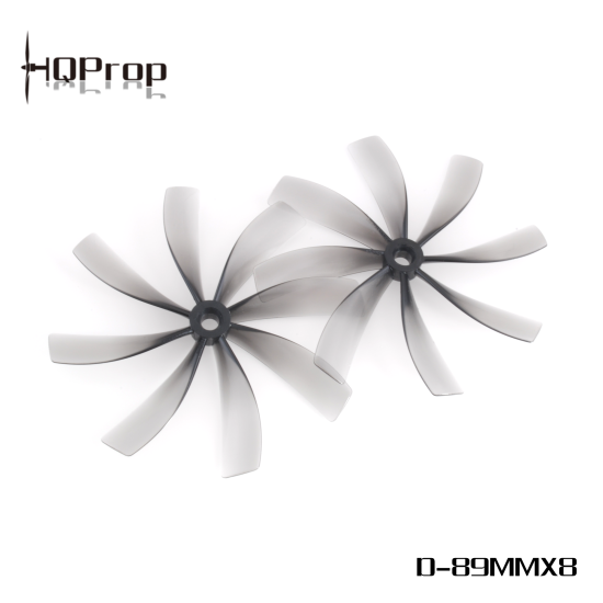 HQProp Duct-89mmX8 3.5'' Cinewhoop Grey (2 Pairs) PC Propeller