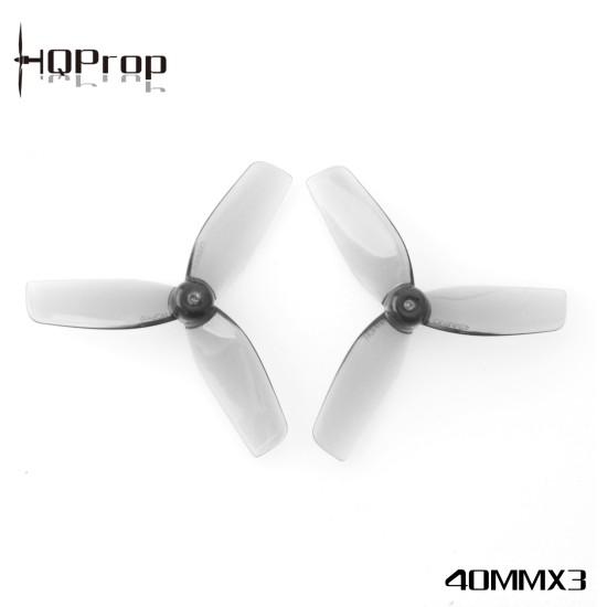 HQprop Micro Whoop 40mm x 3  Φ1mm Shaft (2CW+2CCW) Propeller Grey