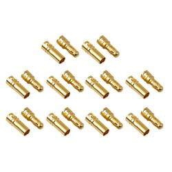 Gold Bullet Connectors 3.5mm (10 Pairs) AMASS