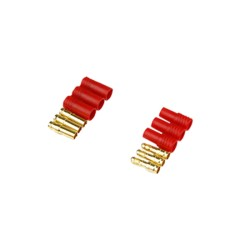 Gold Bullet Connectors 3.5mm Protective Sleeve (3 Pairs) AMASS