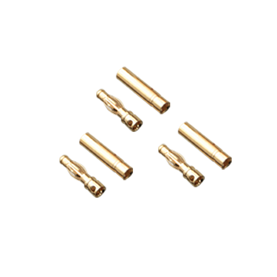 Gold Bullet Connectors 3.0mm (3Pairs) AMASS