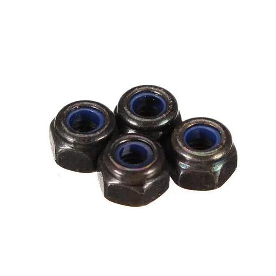 M3 Self Locking Nut Aluminum (4pcs)