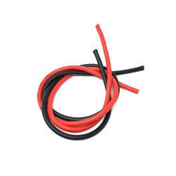 Silicone Cable red/black 1M 12# 14# 16# 18# 20#